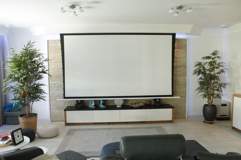 Tension leinwand ohne maskierung mit perfekter planlage multiformat - Leinwand wohnzimmer ...